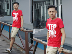 Chandra Pramana Putra - Linoleum Record Step Ahead T Shirt - Step Ahead