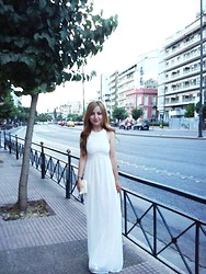 Maria Pasiali - Zara White Long Dress - White passion..