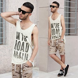 Faissal Yartaa - Hood Boyz Tank, Hood Boyz Jack & Jones Shoe Jj West Side Ji Low Sneaker Black, Hood Boyz Classic, Giant Vintage Black - SUMMER LOOK