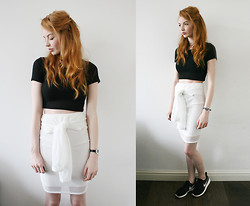 Hannah Louise - Topshop Top, 5fashion Mesh Skirt, Nike Roshe Runs - Mesh Skirt