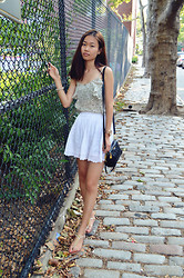 Lucy Liu - Banana Republic Tank, Forever 21 Skirt - Airy Summer