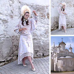 Tatiana Bezgodova - Daya Urkineeva Dress, Daya Urkineeva Kokoshnik, Noname Shoes - Ghost of the Russian beauty