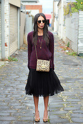 Lisa O - Glassons Knit, Asos Skirt, Wittner Heels, Mimco Bag, Ray Ban Sunglasses - Take My Hand