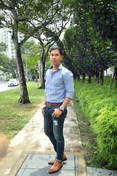 Alvin Miranda - Zara Buttoned Down, Tommy Hilfiger Brown Belt, Abercrombie & Fitch Demin - Gloomy Wednesday