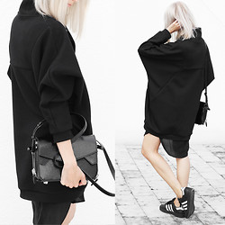 Joyce Croonen - Henrik Vibskov Sweater, Acne Studios Blouse, Adidas Sneakers, Alexander Wang Bag - Sweater Dress