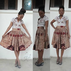 Violet K - Kibua V High Waist Kitenge Skirt - High Waist Kitenge Skirt