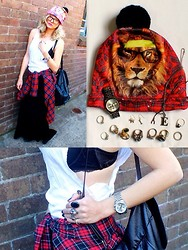 Emi B - Mr. Gugu & Miss Go Beanie, Michael Kors Watch, Bonds Cut Up Singlet, Asos Velvet Maxi Skirt - Killing Time Looking Fine