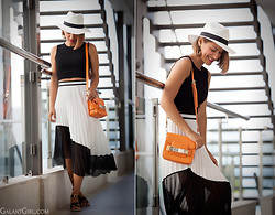 Galant-Girl Ellena - Proenza Schouler Bag - B&W with drop of ORANGE! С каплей апельсина.