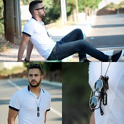 Nabil Asserghine - T Shirt, Sunglasses, Necklaces - The other day
