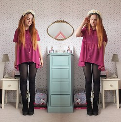 Amelia Breading - Haute Society Chiffon Shirt, Primark Flower Crown - FLOWER FAIRY