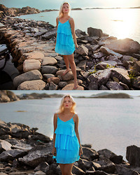 Elin Hansson - Turquoise Dress - ♡ Down on the west coast, they got their icons ♡