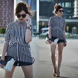 Laura Views - 6ks Shirt, Aita Bag, Zara Shoes, Maje Shorts, Ray Ban Sunnies - Vertical