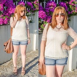 Yania Pereira - Massimo Dutti Top, C&A Short - TOP GUIPUR