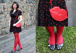 Joyce Nunes - Antix Dress, Emme Bag, Melissa Flat - Love, Love, Love.