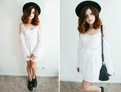 Sabina Olson - Dr. Martens Drmartens, Sheinside White Dress - Over my dead body #143