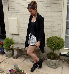 Charlotte Smith - Monki Blazer, New Look Shorts, Asos Boots - Stompers
