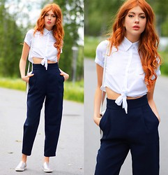Ebba Zingmark - Young Hungry Free Blouse, Frontrowshop Pants, Eden Shoes, Esprit Bag - Young Hungry Free