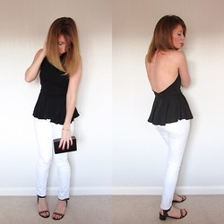 Emily L - Topshop Baxter Jeans, Asos Backless Top - Lolalo