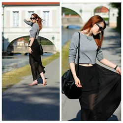 Jules S - H&M Maxi Skirt, Zara Crop Top - By the canal