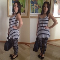 Valeria - H&M Top, H&M Leggings, Carpisa Bag, Pandora Rings - Stripes