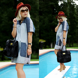 Hannah Riley - Rebecca Taylor Dress, Mulberry Bag, Crown Vintage Shoes, Prada Sunnies, Bcbg Hat - Walk the Plank