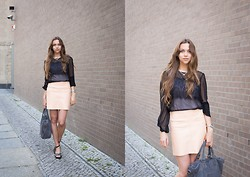 Jana Couture - Zara Skirt, Liebeskind Bag - Peach and Lace
