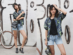 Miu N - Monki Jacket, Levi's® Shorts, Cubus Tshirt, Kenzo Cap, Alexander Wang Bag, Bikbok Shoes - Lost It All