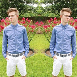 Harrison Janse - J. Crew Shirt, American Eagle Shorts - Color in Bloom