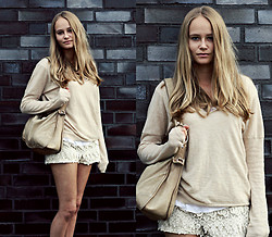 Louisa Philine W - Zara, Set, H&M - Beige