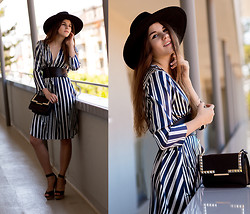 Michèle Krüsi - Thakoon Dress, Shellys London Shoes, Maison Michel Hat - STRIPES FOR THE WIN