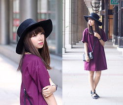 Van Anh L. - Nosbyn Boxy Dress, River Island Wide Brim Hat - From the Other Side of the World
