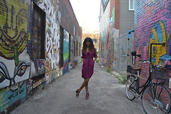 Alysha J - H&M Black Tank Top, Costa Blanca High Low Shirt Dress, Thrift Store Skinny Twisted Brown Belt, Urban Outfitters We Who See Wylde Heeled Sandal - Laid-Back Attitude