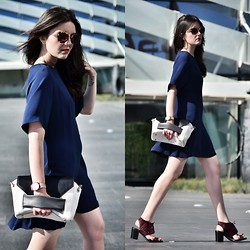 Laura Views - Zara Dresd, Topshop Shoes, Aita Bag, Miu Sunnies - Blue Marine