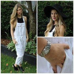 Zoë I - Wilfred Free Overalls, H&M Hat, Mossimo Shoes, Cartier Watch, Nars Lipstick - WHITE LIES