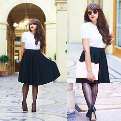 Dollyjessy . - Asos Black Midi Skirt, Asos Top, Asos Clutch Bag - Vivienne
