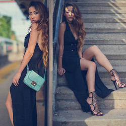 Jessica Wang - Tamara Mellon Shoes, Stylemoi Dress, Style Moi Bag - Caged