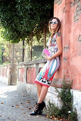 Sabrina Tassini - Blumarine Dress, Stradivarius Clutch - The lady like issue