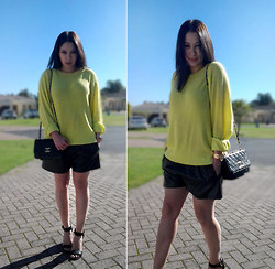 Tneale Williams - Yellow Knit, Mr P Oversized Leather Shorts - My Love and my Touch.