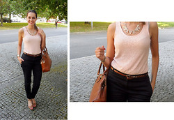 Isabel Silva - Atmosphere Top, Atmosphere Pants, Sammydress Necklace, Marypaz Sandals - Pink Lace