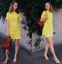 Valerie Levandovska - Zara Dress, Parfois Backpack, Zara Sandals - POWER OF THE SUN