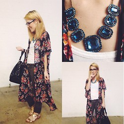 Rachel Willow - Forever 21 Necklace, Francesca's Bag, Forever 21 Sandals - Landslide