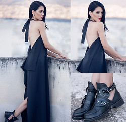 Konstantina Tzagaraki - Dress, Booties - Every moment is precious, even the ones behind me..