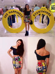 Claudia-Kate AY - Abercrombie Crop Top, Forever 21 Marvel Comics Skirt, Marc By Jacobs Bucket Bag, Topshop Booties - See ☋ Happiness Everywhere ✌︎