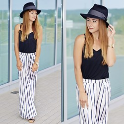 Clean Couture Lu - H&M Trousers, Vintage Hat, Podium Shoes - Hat time