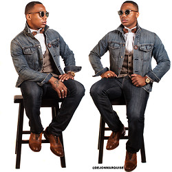 Mr. Marquis -  - Playing with Denim & Wooden Bowties