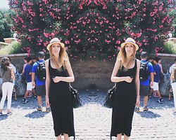 Ana Moon - Asos Dress, H&M Hat - Holidays in Rome