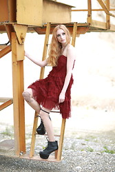 Mel Grotesque - Jeffrey Campbell Litas, Red Dress - Red princess