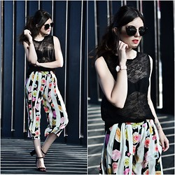 Laura Views - Msgm Pants, Zara Shoes, Zara Top, Miu Sunnies, Dkny Watch - Floral