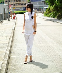 Janice G - Topshop White Dungaree - White Dungaree