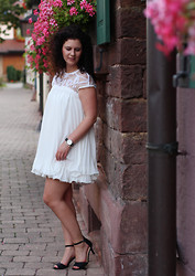 The S Signature - Sheinside Dress, H&M Sandals - White Dress